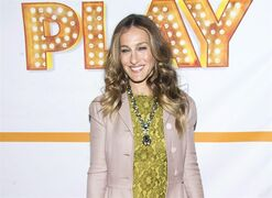 FILE - In this Jan. 23, 2015 file photo, Sarah Jessica Parker attends the re-opening of the Broadway show