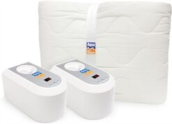 This photo provided by Aqua Bed Warmer shows a bed warmer and mattress. Aqua Bed Warmer warms beds by circulating heated water through a special mattress pad. (AP Photo/Aqua Bed Warmer)