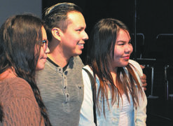Breaking Bad actor Jeremiah Bitsui taking photos during the Winnipeg Aboriginal Film Festival's youth education day at the Adam Beach Film Institute ( (587 Ellice Ave.) on Nov. 19, 2014.