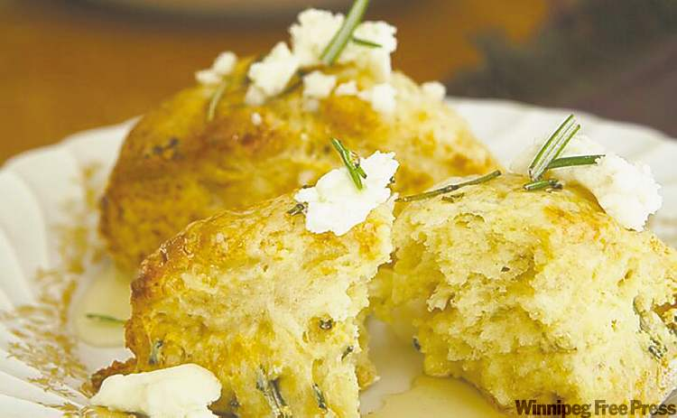 Savory honey scones