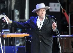 FILE - This July 22, 2012 file photo shows U.S. singer-songwriter Bob Dylan performing on stage at