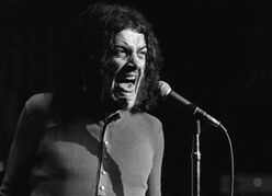 FOR ONE TIME USE ONLY WITH OBITUARY - In this June 1970 photo released by Linda Wolf, British singer Joe Cocker performs during the Joe Cocker - Mad Dogs & Englishmen tour and traveling party. Cocker, the raspy-voiced British singer known for his frenzied cover of