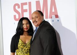 FILE - In this Dec. 14, 2014 file photo, Martin Luther King III and wife Arndrea Waters attend the premiere of