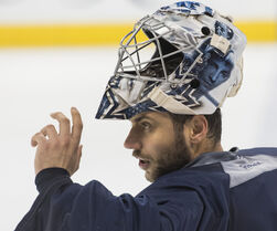 Jets goaltender Ondrej Pavelec will get the start against the Blackhawks.