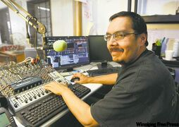 Robert Francis, DJ on 'Rez Radio,' is a regular voter in federal and provincial elections, unlike most of his neighbours.