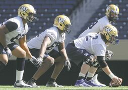 The Blue Bombers offensive line practises Thursday for the inevitable nastiness they'll face when they take on the Saskatchewan Roughriders this weekend.