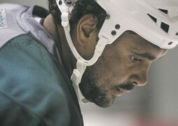 Winnipeg Jets' Dustin Byfuglien would prefer to play on the blue-line, but that/s not going to happen under head coach Paul Maurice.