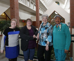 World Day of Prayer organizers (from left): Cathie Morgan Matula, Patricia Baker, Pat Ross and Diane Dwarka.