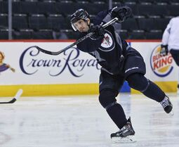 The newest member of the Winnipeg Jets, Lee Stempniak, hit the ice with the team this morning at the MTS Centre.