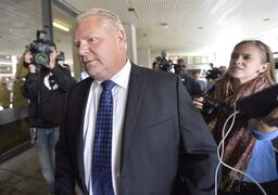 Doug Ford arrives at Mount Sinai Hospital in Toronto, Wednesday, Sept.17, 2014. THE CANADIAN PRESS/Nathan Denette