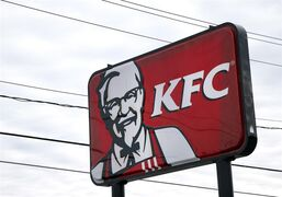 A KFC sign hangs in Saugus, Mass. on Jan. 31, 2014. THE CANADIAN PRESS/AP, Elise Amendola