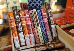 Candy-flavoured cigars appear on display at a custom tobacco shop in Albany, N.Y., on May 31, 2013. THE CANADIAN PRESS/AP, Hans Pennink