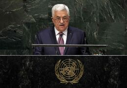 President Mahmoud Abbas, of Palestine, addresses the 69th session of the United Nations General Assembly, at U.N. headquarters, Friday, Sept. 26, 2014.