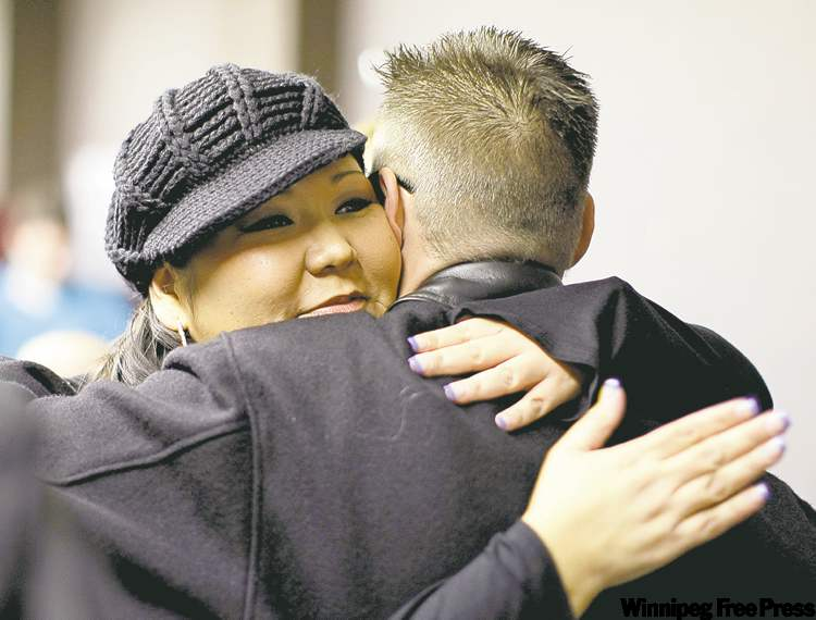 Elmwood candidate Shaneen Robinson is consoled following loss to Thomas Steen.