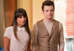 This photo released by Fox shows, Lea Michele, left, and Chris Colfer, in a scene from