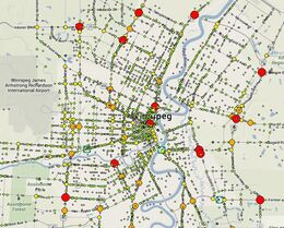 Maps show collisions on Winnipeg streets reported to Manitoba Public Insurance in 2012.