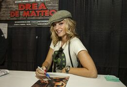 "FILE - This March 5, 2015 file photo shows, actress Drea de Matteo during the Wizard World Comic Con Fan Fest Chicago at the Donald E. Stephens Convention Center in Rosemont, Ill. Among those who lost their homes in the powerful blast and fire in Manhattan's trendy East Village was former ""Sopranos"" actress de Matteo. The actress took to Instagram Thursday, March 26, 2015, to share two dramatic photos of firefighters battling smoke and flames. (Photo by Barry Brecheisen/Invision/AP, File)"