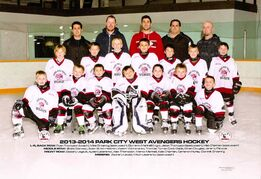 The Park City West Avengers 7/8 hockey team is shown.
