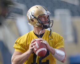 Winnipeg Blue Bombers quarterback Brian Brohm's career has been full of highs and lows and tonight's start gives him the chance to prove himself once again.