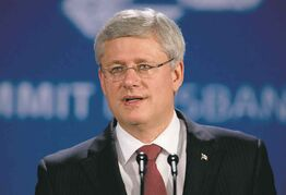 Prime Minister Stephen Harper has boasted of Canada as an