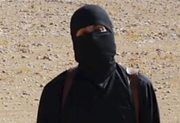 FILE - This undated image shows a frame from a video released Friday, Oct. 3, 2014, by Islamic State militants that purports to show the militant who beheaded of taxi driver Alan Henning . A British-accented militant who has appeared in beheading videos released by the Islamic State group in Syria over the past few months bears