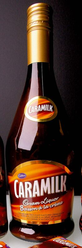 Caramilk liquor products (rear left and centre) have similar labelling as non-liquor products.