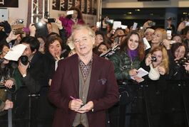 American actor Bill Murray poses for photographers on the red carpet in Pioltello, near Milan, Italy, Feb. 10, 2014. Bill Murray, Kate Winslet, Denzel Washington, Robert Downey Jr., Steve Carell, Reese Witherspoon and Al Pacino are among the A-listers headed to next month's Toronto International Film Festival. THE CANADIAN PRESS/AP, Antonio Calanni