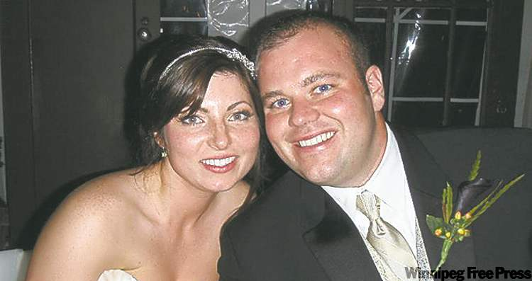 Andrea Bannish, seen here with husband Daniel, was killed Thursday.