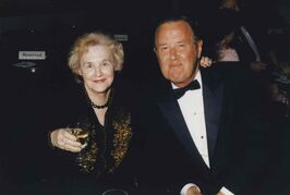 Jack Matheson (1924 - 2011), sports columnist for the Winnipeg Tribune, with his wife Peggy.