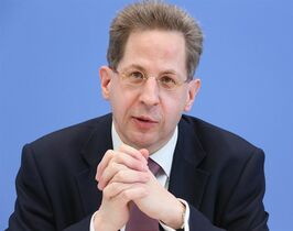 FILE - In this June 11, 2013 file picture the president of the Federal Office for the Protection of the Constitution, Hans-Georg Maassen attends a press conference in Berlin, Germany. The head of Germany's domestic intelligence agency says the number of Islamic extremists in the country is growing rapidly. Hans-Georg Maassen says his agency counts estimates that some 6,300 people in Germany are adherents of a fundamentalist strain of Islam known as Salafism. Maassen told rbb-Inforadio in an interview broadcast Saturday Oct. 25, 2014 that the number of Salafis could rise to 7,000 by the end of the year. (AP Photo/dpa,Stephanie Pilick,File)