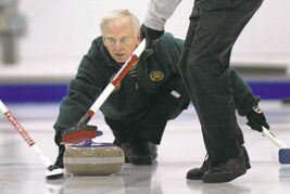 Curler Gary Ross, shown here in a 2004 file photo, finally won a Manitoba title in 2001, when he won the provincial seniors' championship.