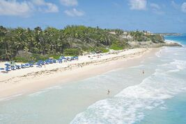 Beautiful Crane Beach, Barbados — a wonderful place to spend time in during the winter.