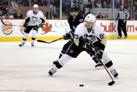 Despite constant attention from the Jets, Pittsburgh Penguins captain Sidney Crosby picked up two points Thursday night and should have had more.