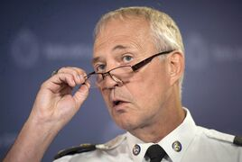 Toronto Police Chief Bill Blair speaks to reporters at a press conference in Toronto on Thursday, July 24, 2014. Toronto's outgoing police chief has confirmed he will be running for the federal Liberals in the fall election. THE CANADIAN PRESS/Darren Calabrese