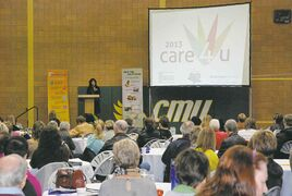 The fourth annual Care4u conference takes place Sat. Nov., 1. Above, participants from last year's conference listen to a speaker.