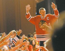 Bob Chwedyk / the associated press filesBlackhawks legend Stan Mikita is introduced during a ceremony honouring some of the team�s greats.