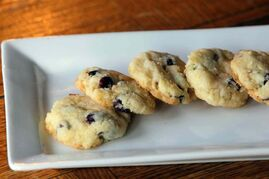 Chewy cranberry coconut cookies