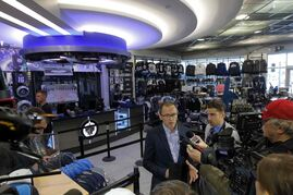 Tour of the renovations done off season at the MTS Centre where the Winnipeg Jets play. Here is the new expanded main floor Jets Gear store.