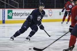 Winnipeg Jets' Mark Scheifele (55) during practice Monday morning at the MTS Centre.