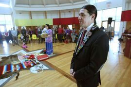Robert-Falcon Ouellette and other Liberals celebrate the 55th anniversary of indigenous voting rights.