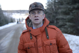 Actor Martin Freeman filmed during an especially frigid winter.