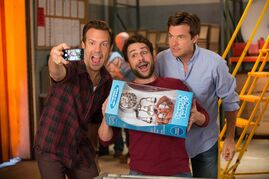 From left, Sudeikis, Day and Bateman deliver the raunchy, R-rated goods in Horrible Bosses 2.