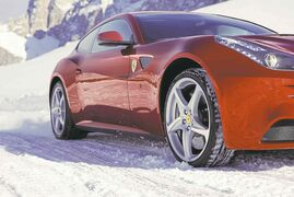 All-weather tires can transform even a ferocious Ferrari into the ultimate winter beater.