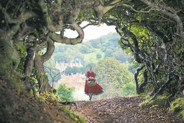 DISNEYLilla Crawford stars as Little Red Riding Hood in Into the Woods