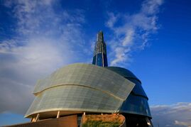 The Guggenheim Museum is the best-known example of so-called destination architecture. The Canadian Museum for Human Rights (above) in Winnipeg is hoping to be in the same company.