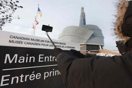 The Canadian Museum for Human Rights has banned the use of selfie sticks inside the museum.