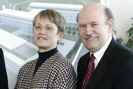 Smart Technologies' Nancy Knowlton and David Martinare pictured in Calgary, March 8, 2007. THE CANADIAN PRESS/HO