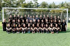 The University of Manitoba Bisons women's soccer team has enlisted 13 new recruits for the coming season. Pictured is the 2014-15 team.