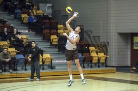 Ken Rooney pictured on court for the University of Manitoba Bisons men's volleyball team. The St. Vital resident has had a stellar season.