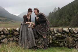 Claire (Caitriona Balfe), left, and Jamie (Sam Heughan) have all the time in the world in Outlander.